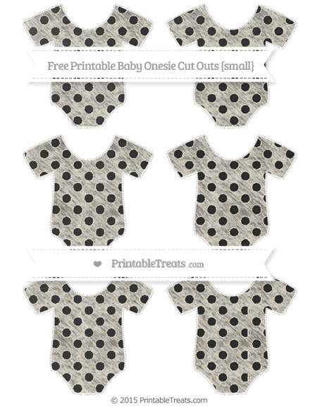 Free Eggshell Polka Dot Chalk Style Small Baby Onesie Cut Outs