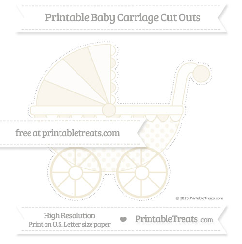 Free Eggshell Polka Dot Extra Large Baby Carriage Cut Outs