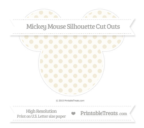Free Eggshell Polka Dot Extra Large Mickey Mouse Silhouette Cut Outs