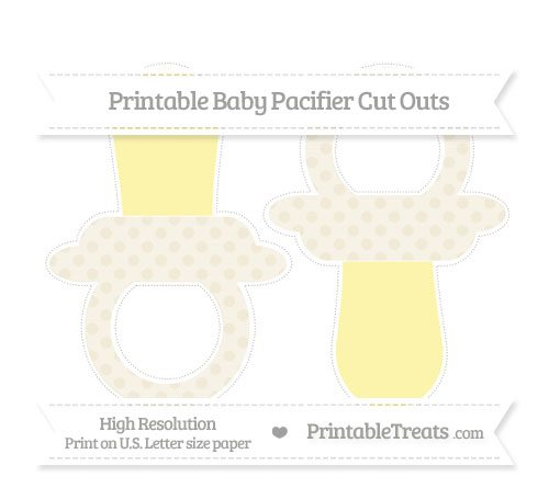 Free Eggshell Polka Dot Large Baby Pacifier Cut Outs