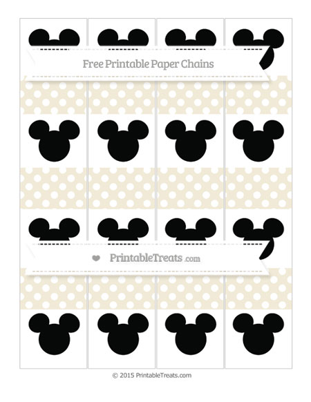 Free Eggshell Polka Dot Mickey Mouse Paper Chains