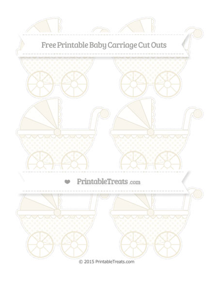 Free Eggshell Polka Dot Small Baby Carriage Cut Outs