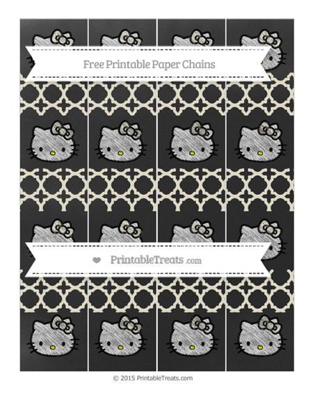 Free Eggshell Quatrefoil Pattern Chalk Style Hello Kitty Paper Chains