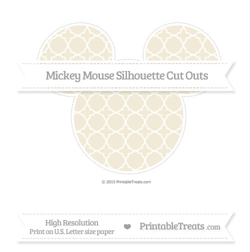 Free Eggshell Quatrefoil Pattern Extra Large Mickey Mouse Silhouette Cut Outs