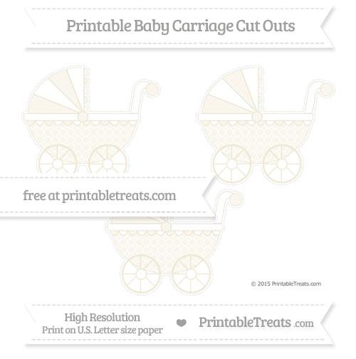 Free Eggshell Quatrefoil Pattern Medium Baby Carriage Cut Outs