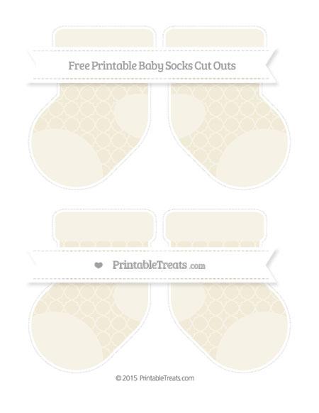 Free Eggshell Quatrefoil Pattern Medium Baby Socks Cut Outs
