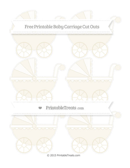 Free Eggshell Small Baby Carriage Cut Outs