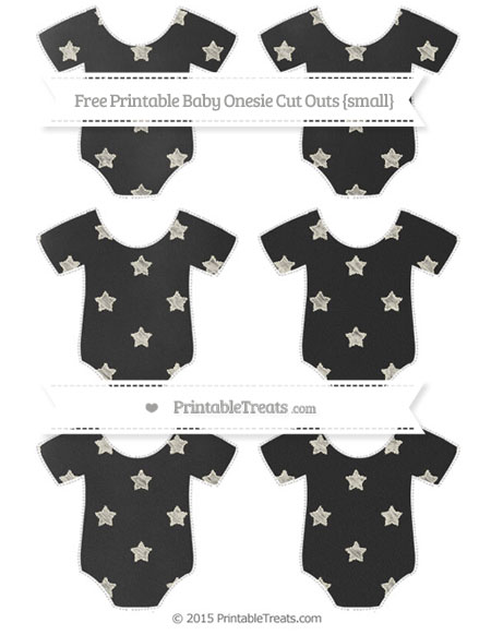 Free Eggshell Star Pattern Chalk Style Small Baby Onesie Cut Outs