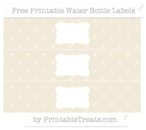 Free Eggshell Star Pattern Water Bottle Labels
