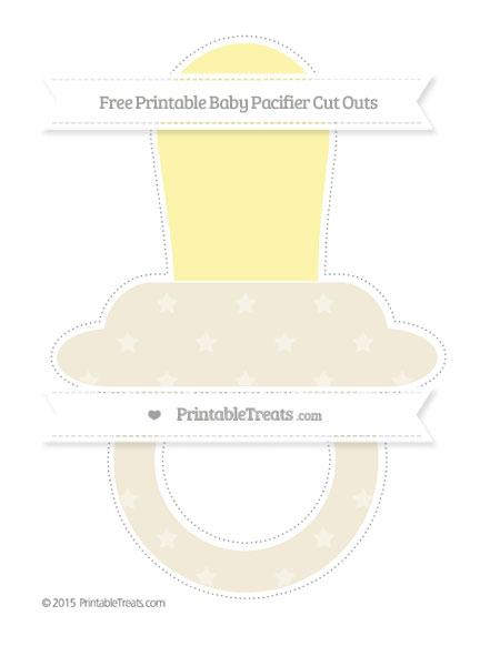 Free Eggshell Star Pattern Extra Large Baby Pacifier Cut Outs