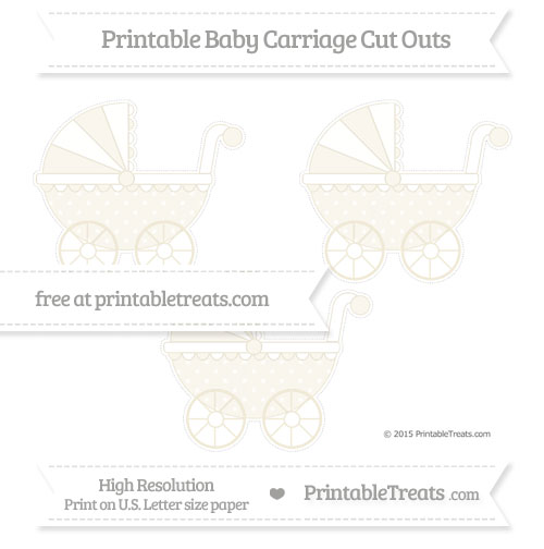 Free Eggshell Star Pattern Medium Baby Carriage Cut Outs