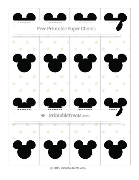 Free Eggshell Star Pattern Mickey Mouse Paper Chains