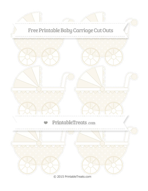 Free Eggshell Star Pattern Small Baby Carriage Cut Outs