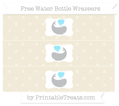 Free Eggshell Star Pattern Whale Water Bottle Wrappers