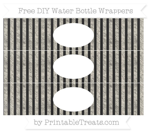 Free Eggshell Striped Chalk Style DIY Water Bottle Wrappers