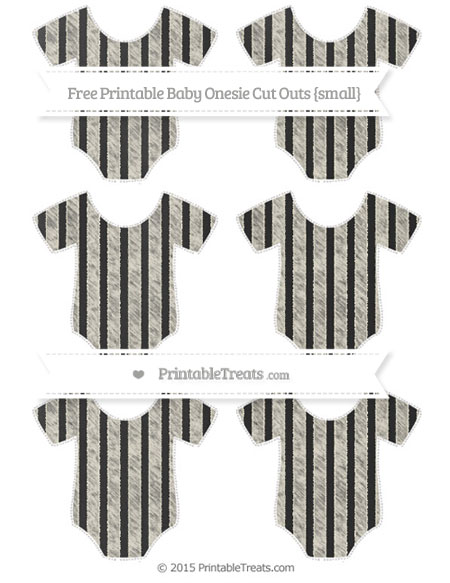 Free Eggshell Striped Chalk Style Small Baby Onesie Cut Outs