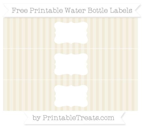 Free Eggshell Striped Water Bottle Labels
