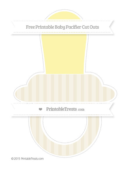 Free Eggshell Striped Extra Large Baby Pacifier Cut Outs