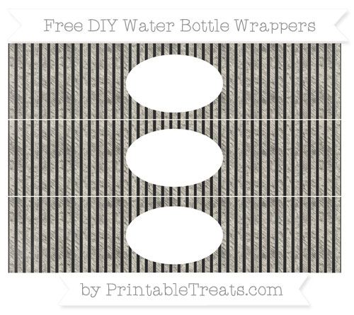 Free Eggshell Thin Striped Pattern Chalk Style DIY Water Bottle Wrappers