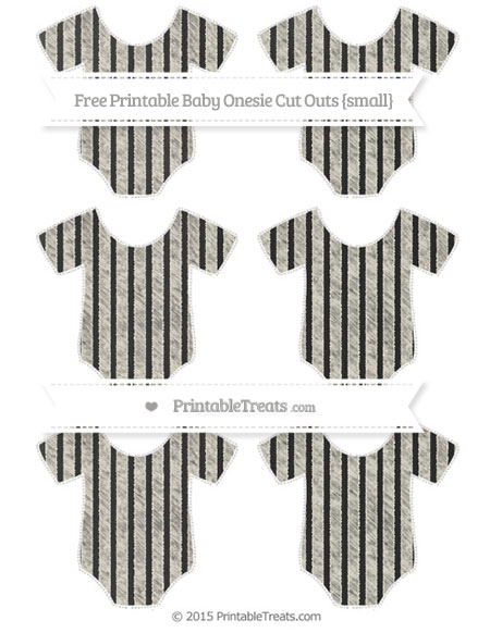 Free Eggshell Thin Striped Pattern Chalk Style Small Baby Onesie Cut Outs