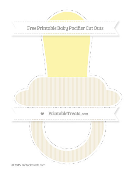 Free Eggshell Thin Striped Pattern Extra Large Baby Pacifier Cut Outs