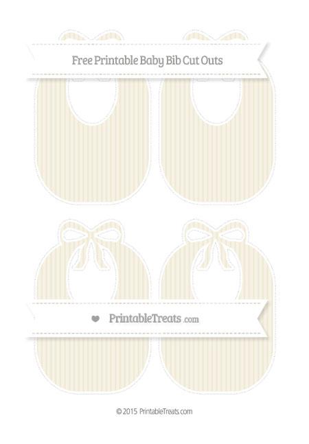 Free Eggshell Thin Striped Pattern Medium Baby Bib Cut Outs