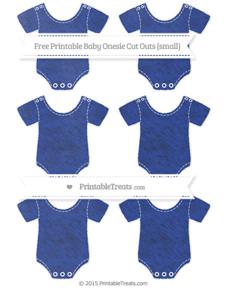 Free Egyptian Blue Chalk Style Small Baby Onesie Cut Outs