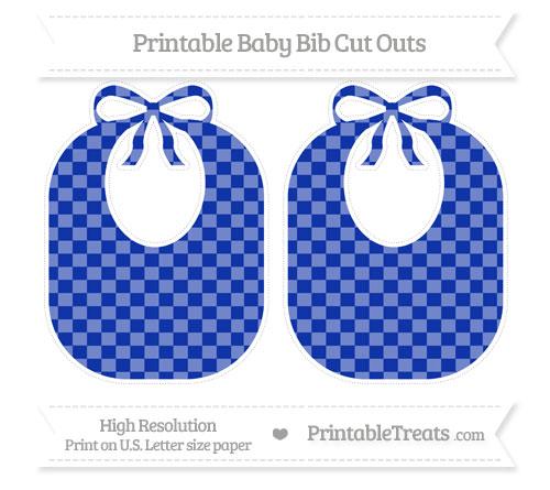 Free Egyptian Blue Checker Pattern Large Baby Bib Cut Outs