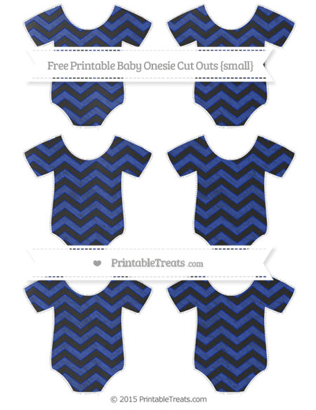 Free Egyptian Blue Chevron Chalk Style Small Baby Onesie Cut Outs