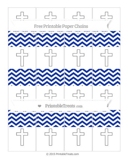 Free Egyptian Blue Chevron Cross Paper Chains