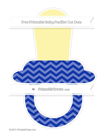 Free Egyptian Blue Chevron Extra Large Baby Pacifier Cut Outs