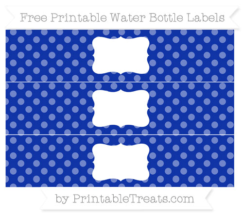 Free Egyptian Blue Dotted Pattern Water Bottle Labels