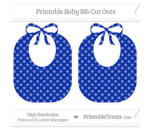 Free Egyptian Blue Dotted Pattern Large Baby Bib Cut Outs