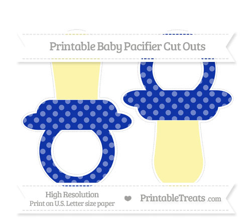 Free Egyptian Blue Dotted Pattern Large Baby Pacifier Cut Outs