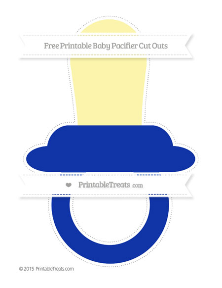 Free Egyptian Blue Extra Large Baby Pacifier Cut Outs