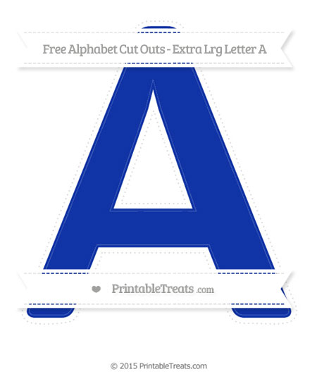 Free Egyptian Blue Extra Large Capital Letter A Cut Outs