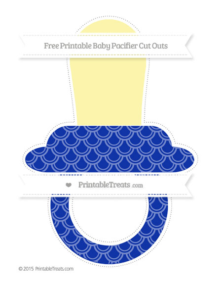 Free Egyptian Blue Fish Scale Pattern Extra Large Baby Pacifier Cut Outs