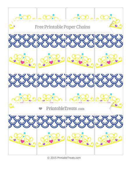 Free Egyptian Blue Fish Scale Pattern Princess Tiara Paper Chains