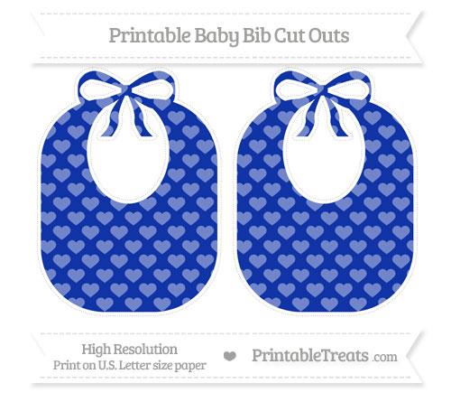 Free Egyptian Blue Heart Pattern Large Baby Bib Cut Outs