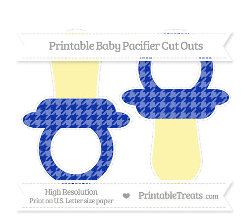 Free Egyptian Blue Houndstooth Pattern Large Baby Pacifier Cut Outs