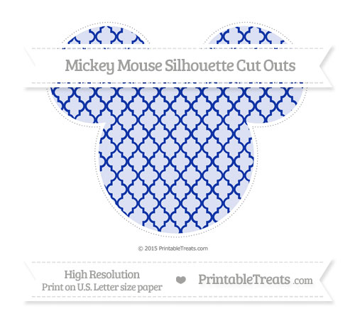 Free Egyptian Blue Moroccan Tile Extra Large Mickey Mouse Silhouette Cut Outs