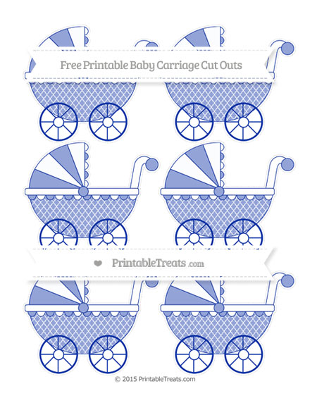 Free Egyptian Blue Moroccan Tile Small Baby Carriage Cut Outs