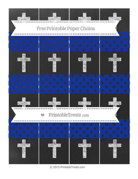 Free Egyptian Blue Polka Dot Chalk Style Cross Paper Chains