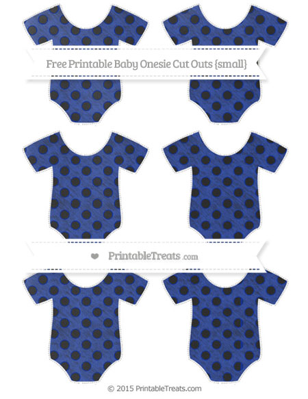 Free Egyptian Blue Polka Dot Chalk Style Small Baby Onesie Cut Outs
