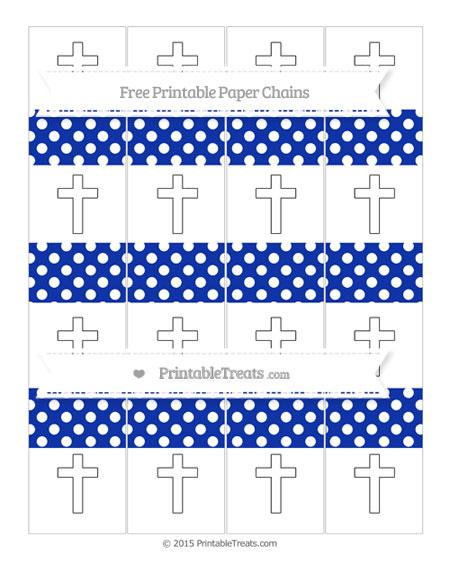 Free Egyptian Blue Polka Dot Cross Paper Chains