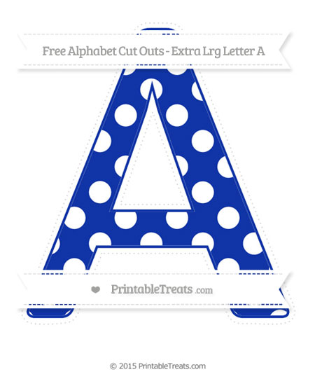 Free Egyptian Blue Polka Dot Extra Large Capital Letter A Cut Outs