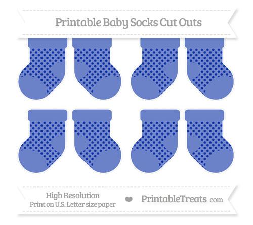 Free Egyptian Blue Polka Dot Small Baby Socks Cut Outs