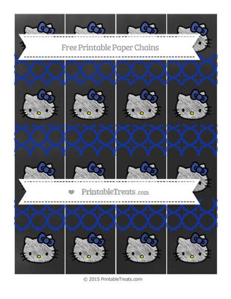 Free Egyptian Blue Quatrefoil Pattern Chalk Style Hello Kitty Paper Chains