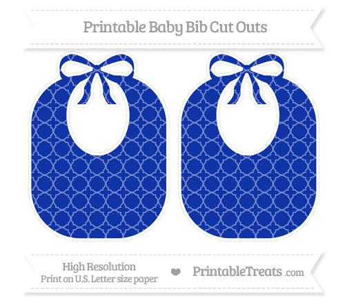 Free Egyptian Blue Quatrefoil Pattern Large Baby Bib Cut Outs