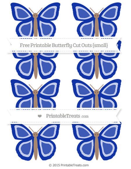 Free Egyptian Blue Small Butterfly Cut Outs